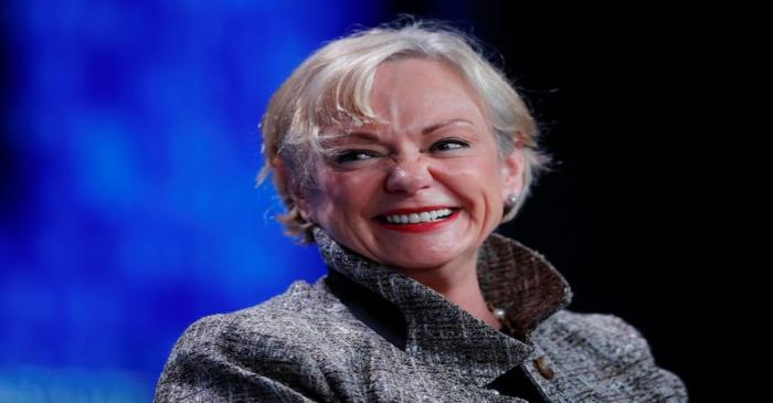 FILE PHOTO: Christine McCarthy, Senior Executive Vice President and Chief Financial Officer,