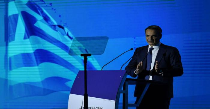 Greek PM Mitsotakis delivers his annual speech on the state of the country's economy, in