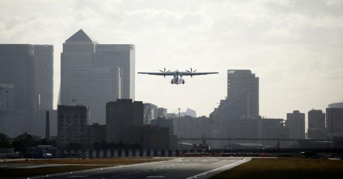 FILE PHOTO: London City Airport restarts commercial flights following lockdown