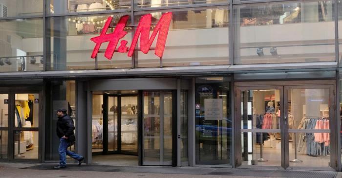 FILE PHOTO: A man leaves H&M shop in Riga
