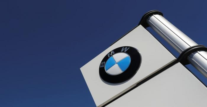 A logo of BMW is seen outside a BMW car dealer, amid the coronavirus disease (COVID-19)