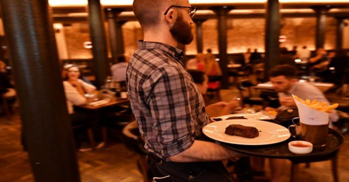 FILE PHOTO: Staff work at Hawksmoor, on the opening day of