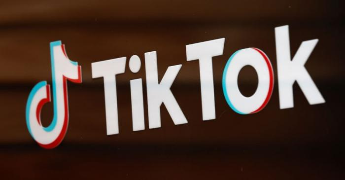 FILE PHOTO: The TikTok logo is pictured outside the company's U.S. head office in Culver City,