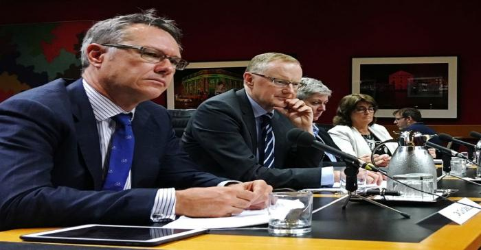 Reserve Bank of Australia Governor Philip Lowe speaks at a parliamentary committee hearing in