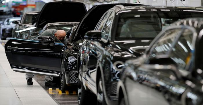 FILE PHOTO: Bentley cars go through final quality control as they come off the production line