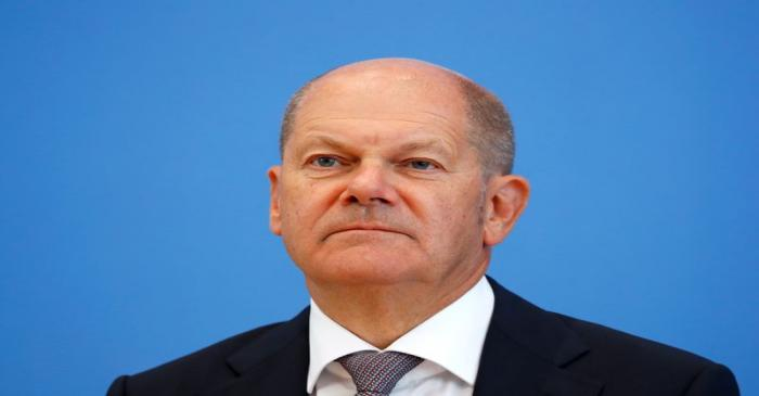 German Finance Minister Olaf Scholz presents the federal government's 2021 draft budget, in