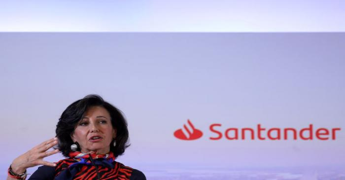 FILE PHOTO: Banco Santander's chairwoman Ana Patricia Botin speaks during the annual results