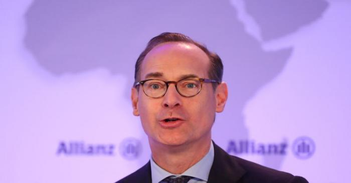 Baete of Allianz SE attends the company's annual news conference in Munich