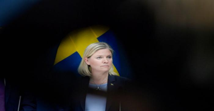 FILE PHOTO: Swedish Finance Minister Magdalena Andersson and Minister for Financial Markets and