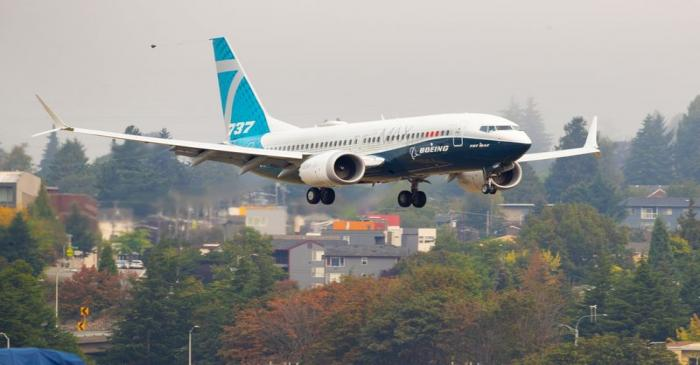 FAA Chief Steve Dickson returns in a Boeing 737 MAX aircraft in Seattle
