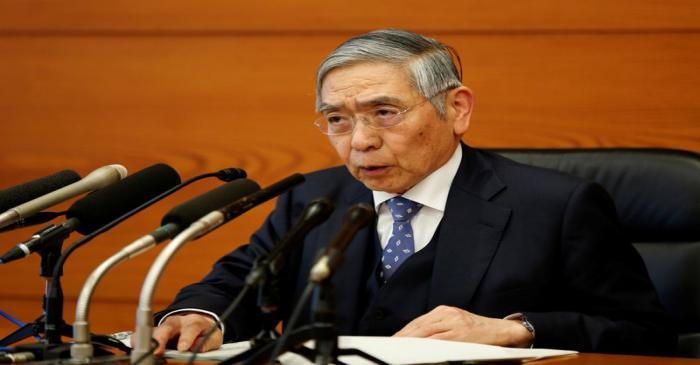 Bank of Japan Governor Haruhiko Kuroda speaks at a news conference in Tokyo
