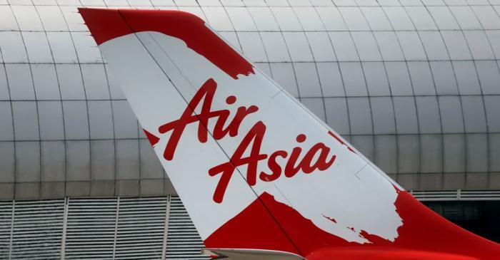 FILE PHOTO: Tail of AirAsia X plane as seen at the Garuda Maintenance Facility AeroAsia in