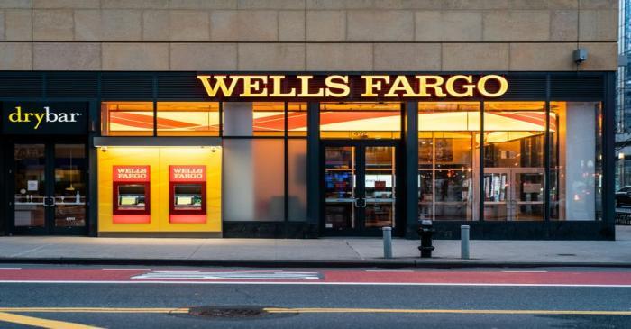 FILE PHOTO: Wells Fargo Bank branch is seen in New York