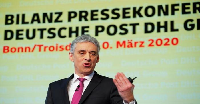 FILE PHOTO: DHL CEO Appel at the annual news conference of the German postal and logistic group