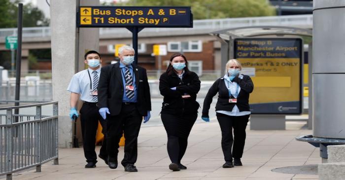 FILE PHOTO: Outbreak of the coronavirus disease (COVID-19) in Manchester