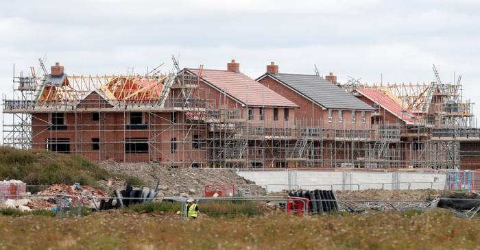 New houses under construction are pictured in Aylesbury