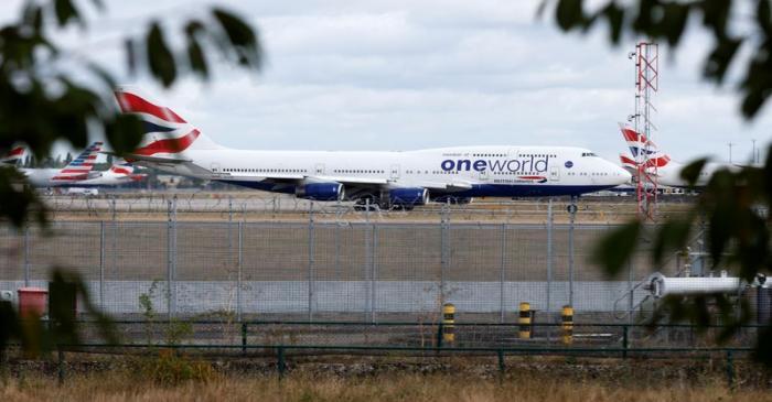 British Airways Boeing 747 G-CIVD leaves London Heathrow airport on it's final flight in London