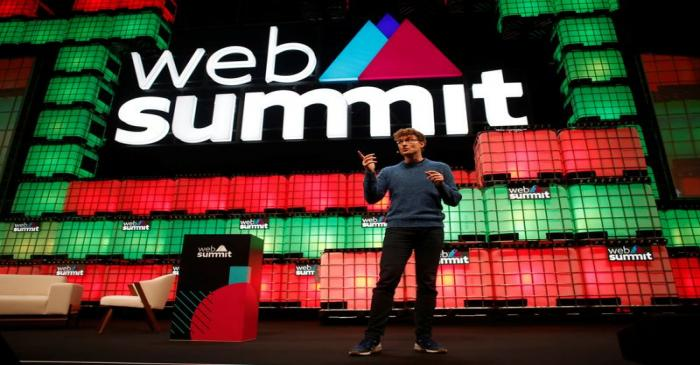 FILE PHOTO:  Web Summit's co-founder Paddy Cosgrave speaks during the inauguration of Web