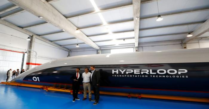 FILE PHOTO: Hyperloop TT co-founder and CEO, Dirk Ahlborn, Airtificial co-founder and chairman,