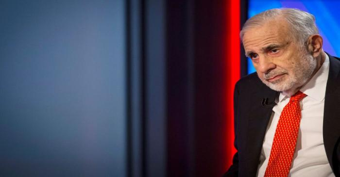 FILE PHOTO: Billionaire activist-investor Carl Icahn gives an interview on FOX Business