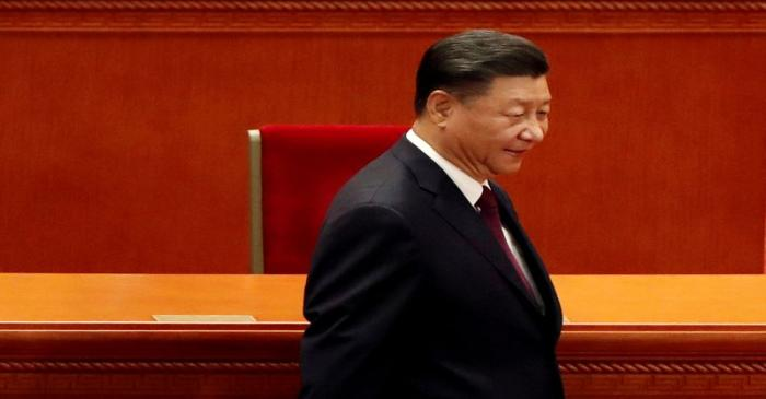 FILE PHOTO: Chinese President Xi Jinping arrives for a meeting in Beijing