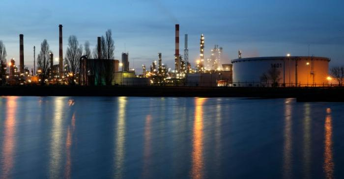 FILE PHOTO: A general view shows the Total Grandpuits oil refinery and petrol depot southeast