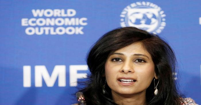 FILE PHOTO: Gita Gopinath, Economic Counsellor and Director of the Research Department at the
