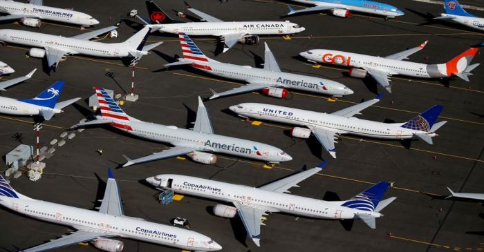 FILE PHOTO: FILE PHOTO: Grounded Boeing 737 MAX aircraft are seen parked at Boeing Field in