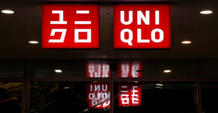 FILE PHOTO:  Japan's Fast Retailing Co Ltd's Uniqlo signboard is pictured at its shop in Tokyo
