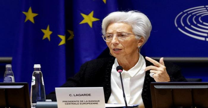 FILE PHOTO: European Central Bank President Lagarde testifies before the EU Parliament's