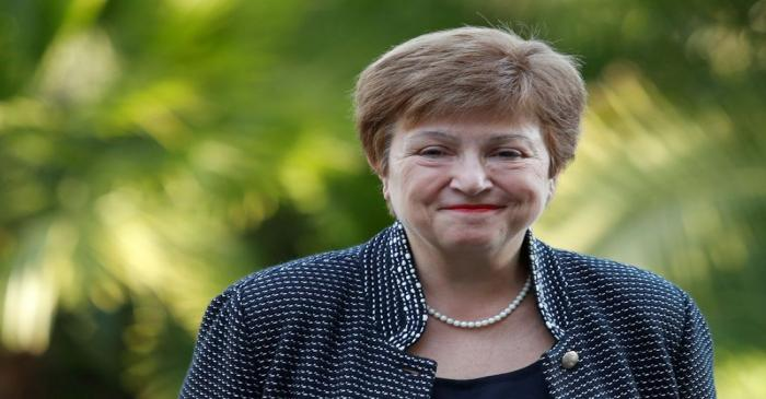 FILE PHOTO: IMF Managing Director Kristalina Georgieva arrives for a conference hosted by the