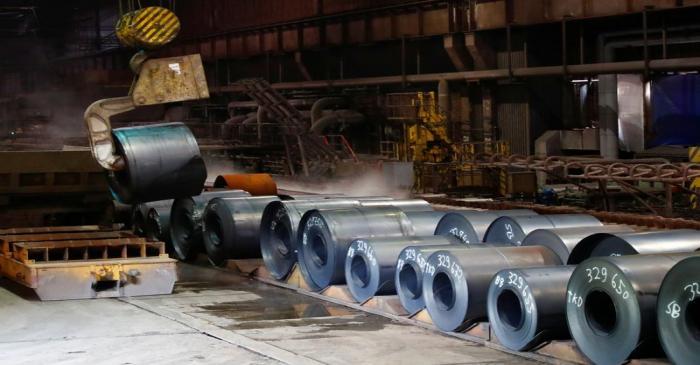 ThyssenKrupp steel factory in Duisburg