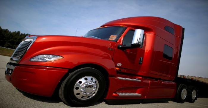 FILE PHOTO: A Navistar LT Series truck is photographed at the Navistar Proving Grounds in New
