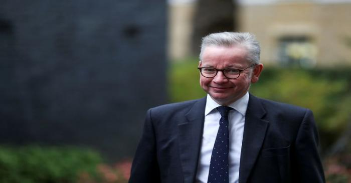 FILE PHOTO: Britain's Chancellor of the Duchy of Lancaster Michael Gove arrives for a Cabinet
