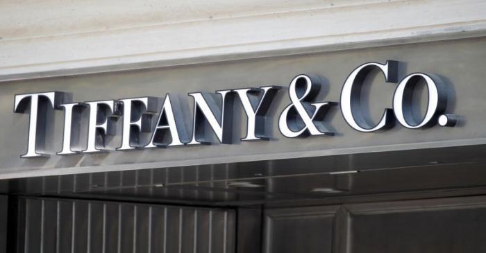 Tiffany & Co. logo outside a store in Paris