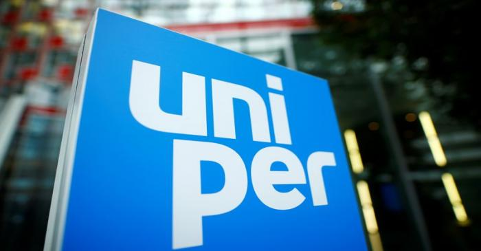 The logo of German energy utility company Uniper SE is pictured in the company's headquarters