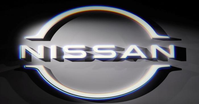 FILE PHOTO: The brand logo of Nissan Motor Corp. is displayed during a press preview of the