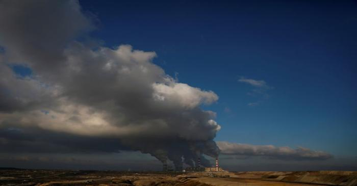 FILE PHOTO: Smoke and steam billows from Belchatow Power Station, Europe's largest coal-fired