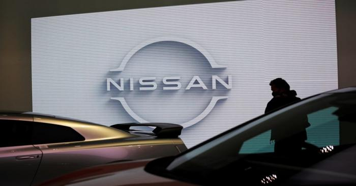 A visitor is seen at Nissan Motor Corp.'s showroom in Tokyo