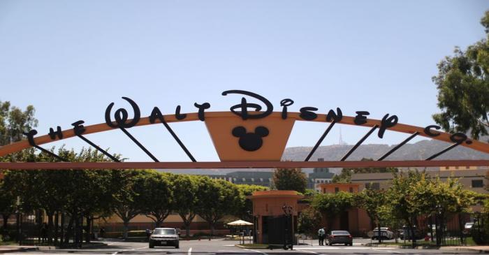 The entrance to Walt Disney studios is seen in Burbank