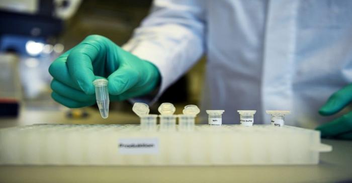 FILE PHOTO: Employee Philipp Hoffmann, of German biopharmaceutical company CureVac,
