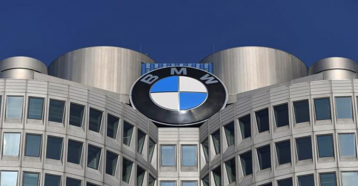FILE PHOTO: The logo of German car manufacturer BMW is seen on the company headquarters in