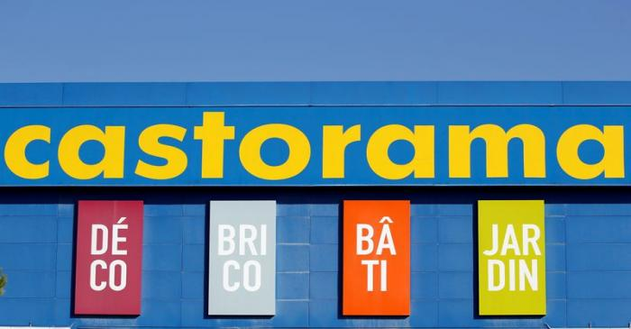 Logo of Castorama, a home improvement store, operated by Kingfisher is pictured in Merignac