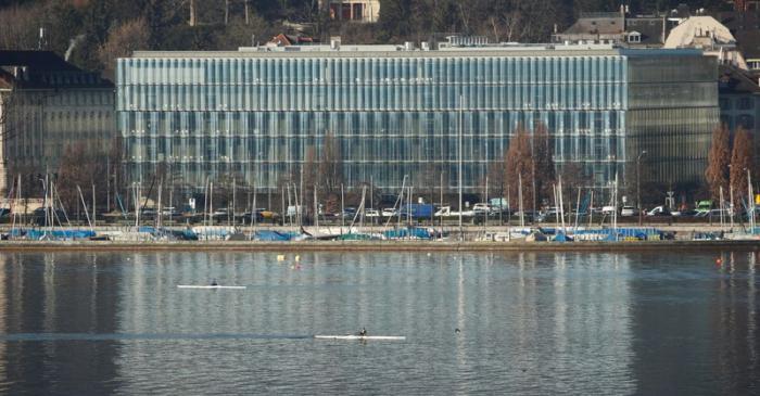 Reinsurer Swiss Re's headquarters are seen on the banks of Lake Zurich in Zurich