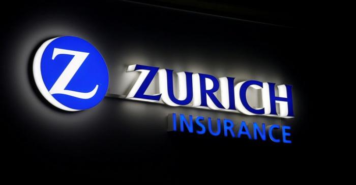 FILE PHOTO: Logo of Zurich Insurance is seen in Davos