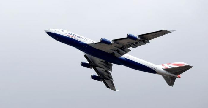 FILE PHOTO: British Airways Boeing 747 G-CIVD leaves London Heathrow airport on its final