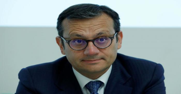 FILE PHOTO: Alitalia special commissioner Laghi attends news conference at Alitalia