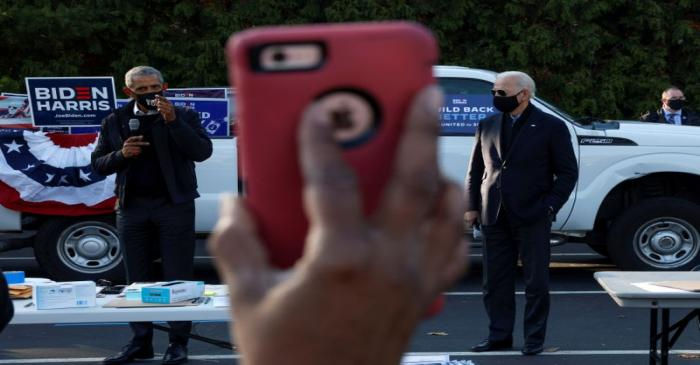 FILE PHOTO: Democratic U.S. presidential nominee Joe Biden at a campaign canvas kickoff in