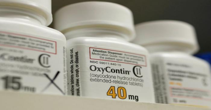 FILE PHOTO: Bottles of prescription painkiller OxyContin made by Purdue Pharma LP sit on a