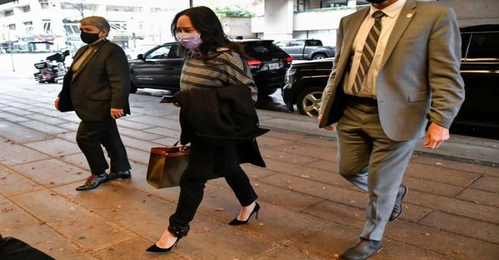 FILE PHOTO: Huawei Technologies Chief Financial Officer Meng Wanzhou arrives at court in
